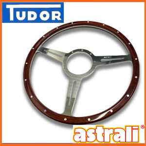 Astrali Slotted Classic Wood Steering wheel 15 inch - Compatible with Moto-lita