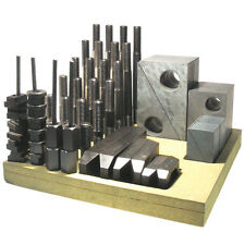 US Made Metric Clamping Kit - M16 Stud; 20 Table Slot - Aluminum Blocks 11642