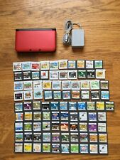 Nintendo 3DS XL Red & Black System Console + CHOOSE 1 GAME BUNDLE LOT FAST SHIP