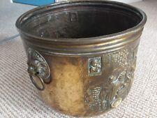 GRANDE Fioriera in metallo vintage in ottone Carbone Log affondiamo Secchio Pentola Vasca Bin JARDINIERE