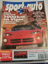 magazine SPORT . AUTO N ° 373 SPECIAL USA VIPER LAMBORGHINI FORMULE 1