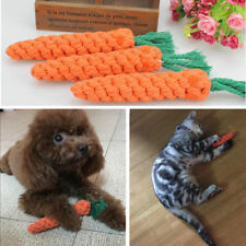 Funny Carrot Pet Dog Toy Braided Cotton Rope Puppy Durable Chew Toys Rabbit 22cm