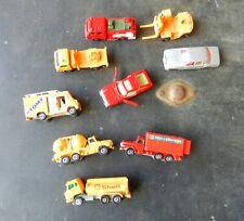 Tomica Lot Of 9 Cars & Trucks Celica, M-B 450Sel, Hino,Isuzu,Nissan Diesel Truck