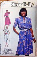 Vintage Simplicity sewing pattern no.7446 ladies dress size 12