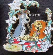 Disney WDW Epcot Flower and Garden Festival 2006 Lady and Tramp Passholder Pin
