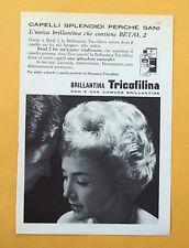 D054 - Advertising Pubblicità -1959- BRILLANTINA TRICOFILINA PER CAPELLI