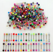 A#7 - 100pcs 316L Surgical Steel Mix Nipple/Tongue/Belly Rings 14g FREE SHIPPING