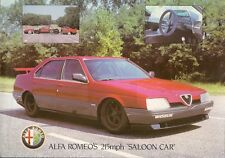 Alfa Romeo 164 ProCar 1988 UK Market Leaflet Brochure