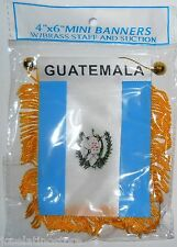 "NEW Guatemala Mini Flag Banner 4"" x 6"" both Sides Flag"