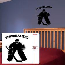 Hockey Wall Art ,Hockey player personalized,Hockey Wall decal Silhouettes player