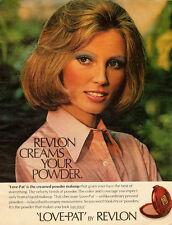 1960s vintage cosmetics ad, 'Love Pat' creamed powder makeup, Revlon -052013