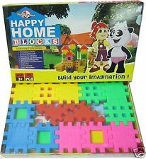 Happy Home Blocks Educational Building Set Game Kids Toy Baby Child Gift