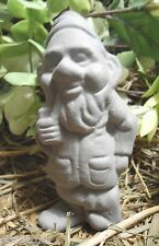 Latex standing Gnome elf smoking pipe Mold For Plaster and Concrete