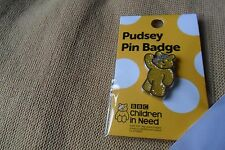 Pudsey bear BBC Children in need charity shiny pin label badge,free u.k.p&p