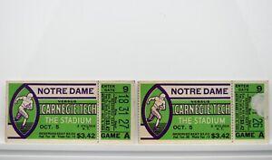 Notre Dame vs. Carnegie Tech 1935 College Football Vintage Ticket Stubs RARE V62