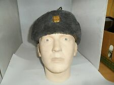 CZECH ARMY USHANKA LARGE FUR LINED HAT SIZE 57