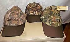 3 NWT Cabelas Men's Outfitter Classic Cap Max-5 Realtree Camo Hat O/S Brown Bill