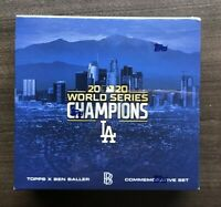 2020 Topps X Ben Baller Los Angeles Dodgers World Series Champions Set Autograph