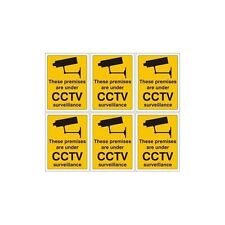 6 X These premises are under CCTV surveillance sticker sign work, house, factory