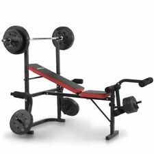 Powertrain DM2810BK Bench Press with Barbell and 45kg Weights