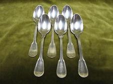 6 cuillères à café métal argenté ercuis aux filets (coffee spoons) NV
