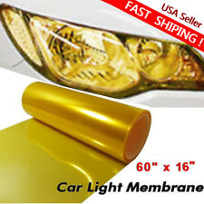 "Universal 16 x 60"" Golden Yellow Headlight Tailight Fog light Tint Film Vinyl US"