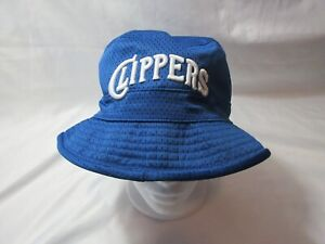 NWT Men's L/XL Reversible MITCHELL & NESS Los Angeles Clippers Bucket Hat Cap
