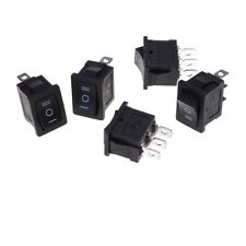 5 pcs SPDT On/Off/On Mini Black 3 Pin Rocker Switch AC 6A/250V 10A/125V  WS