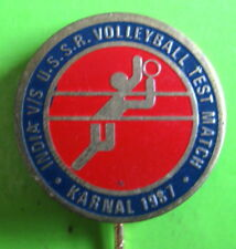 INDIA vs USSR VOLLEYBALL TEST MATCH KARNAL, INDIA 1987 REPAIRED BACK PIN
