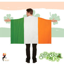St Patricks Day Irish Flag Cape Wearable Ireland Paddy's Party Fancy Dress Up