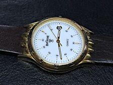 NOS New Batane Watch Watch Vintage Quartz Gold Women Leather