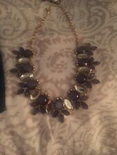Cubic  Zirconia  And Amethyst Necklace