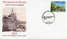 Monaco 2018 FDC Exotic Garden New Botanical Centre 1v Cover Plants Cactus Stamps