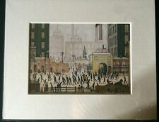 SMALL LS Lowry Prints In Mount Ready To Frame - Just £5!!! Coming From The Mill