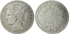 III°  REPUBLIQUE  ,   2  FRANCS  CERES  ARGENT   ,   1887  A