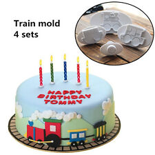 DIY Biscuit Mold Cute Little Train Stereo Mold Fondant Cake Biscuit Mold 4ps/set