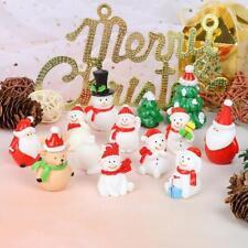 Christmas Miniature Snowman Santa Claus Fairy Garden Figures Terrarium Decor x 1