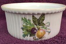"""Vintage Soufflé Casserole Dish, Aluminite Frugier Limoges France, 8"""""""