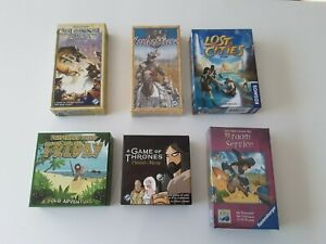 Board Game Lot - Six Games - Lost Cities, Friday, A Game of Thrones