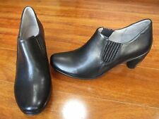 NEW Ecco Sculptured 65 Chelsea Ankle Boots WOMENS 41 10-10.5 Black Leather $160.