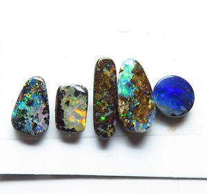 Australian Boulder Opal 4.49ct Natural 5 Stone Parcel