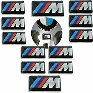 12 Pcs BMW M WHEEL BADGE Emblem M-Tech M-Sport OEM MSport 36112228660 M3 M5 rims