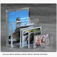 5 X A5 Premium  Clear Acrylic Photo Frames / Perspex Picture Holders