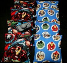 SUPERHERO AVENGER FRIENDS 8 ACA Regulation Corn Hole Bags w Marvel comics Fabric