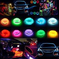 10M Flexible Neon LED Lights Glow EL Wire String Strip Rope Tube Car Decor