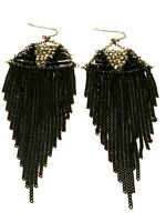 STATEMENT Long Big Large Black Beaded Crystal Diamante Drop Dangle Earrings uk