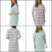 Short Sleeve Nightgown Sleep Dress for Women 100% Cotton Sleepwear