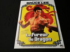 bruce lee LA FUREUR DU DRAGON   !  affiche cinema kung-fu karate