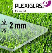2 mm PLEXIGLAS XT - Acrylglas transparent klar PMMA ## Größe wählbar ## gefräst