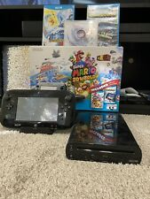 Nintendo Wii U 32GB Black Console Deluxe Set W/ Box And Extra Games!